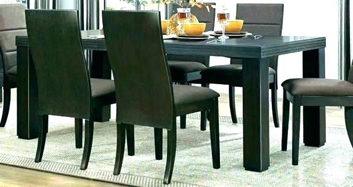 Famous Round Espresso Dining Table Espresso Round Dining Table With Leaf Inside Caira Black Round Dining Tables (View 8 of 20)