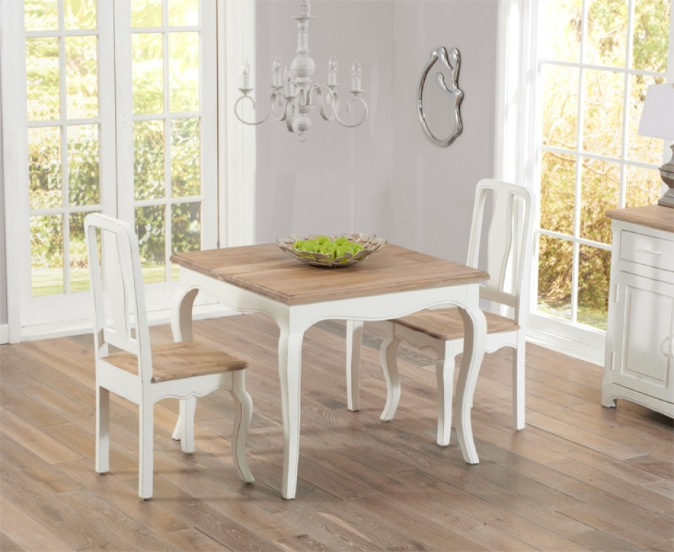 Famous Shabby Chic Dining Sets With Regard To Creative Parisian 90Cm Shabby Chic Dining Table With Chairs – Shabby (View 4 of 20)