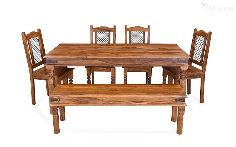 Famous Sheesham Wood Dining Tables Pertaining To Buy Royaloak Haveli 6 Seater Dining Table In Sheesham Woodonline (View 2 of 20)