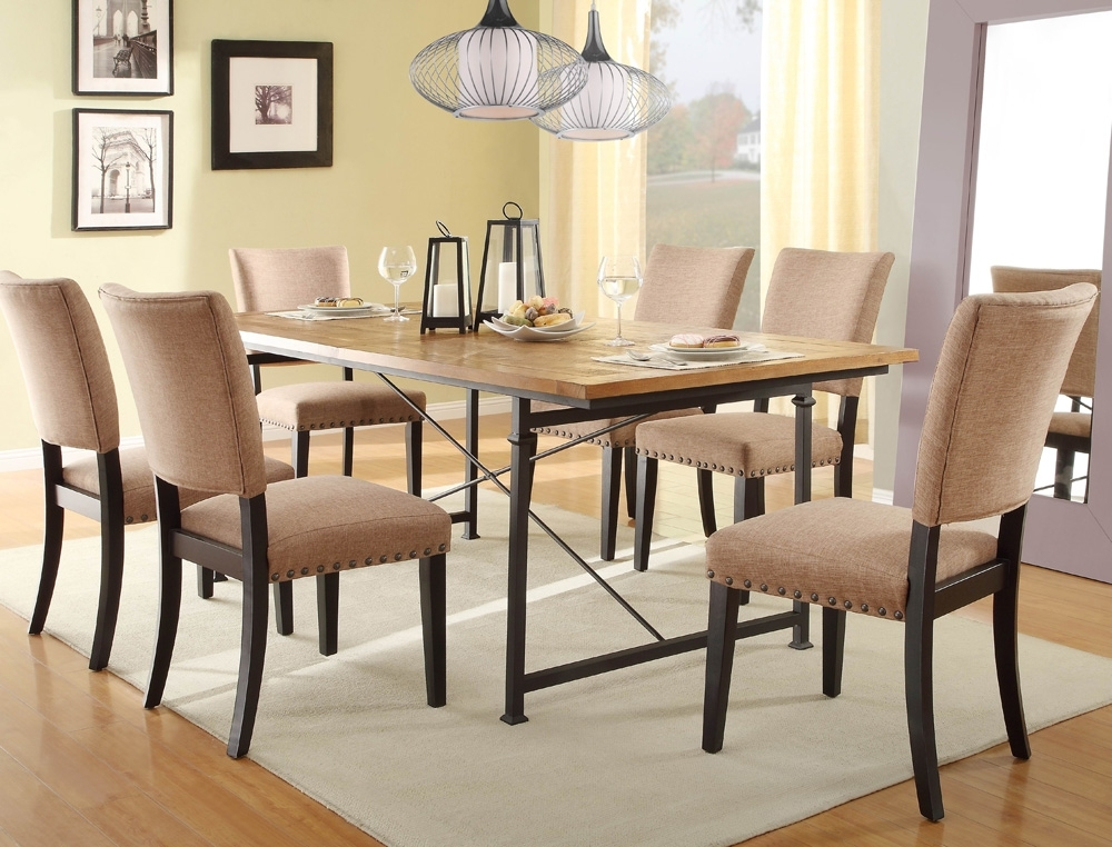 Famous Smartie Dining Tables And Chairs Regarding Wrought Iron Dining Table Set Chintaly Bethel 5 High End Dining Chairs (View 3 of 20)
