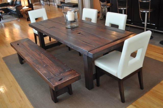 Famous The Clayton Dining Table – Eclectic – Dining Room – Atlanta – With Rustic Dining Tables (View 4 of 20)