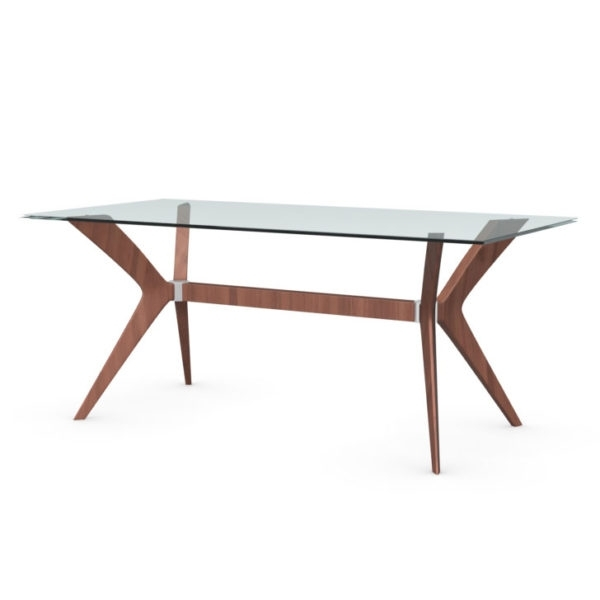 Famous Tokyo Cs/18 Rc 180 G Glass And Wood Rectangular Dining Table With Tokyo Dining Tables (View 7 of 20)