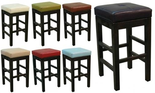 Famous Valencia Square Leather Bar Stool Within Valencia 4 Piece Counter Sets With Bench & Counterstool (View 3 of 20)