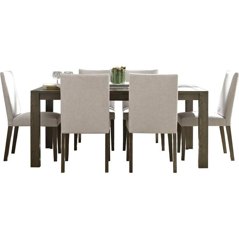 Famous Wade Logan Girard 7 Piece Dining Set & Reviews (View 5 of 20)