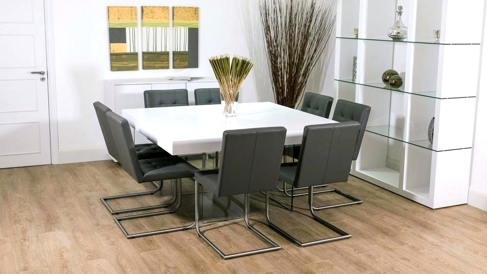 Famous White Dining Tables 8 Seater Throughout Modern Grey And White Extending Dining Table 8 Seater Uk Grey And (View 5 of 20)