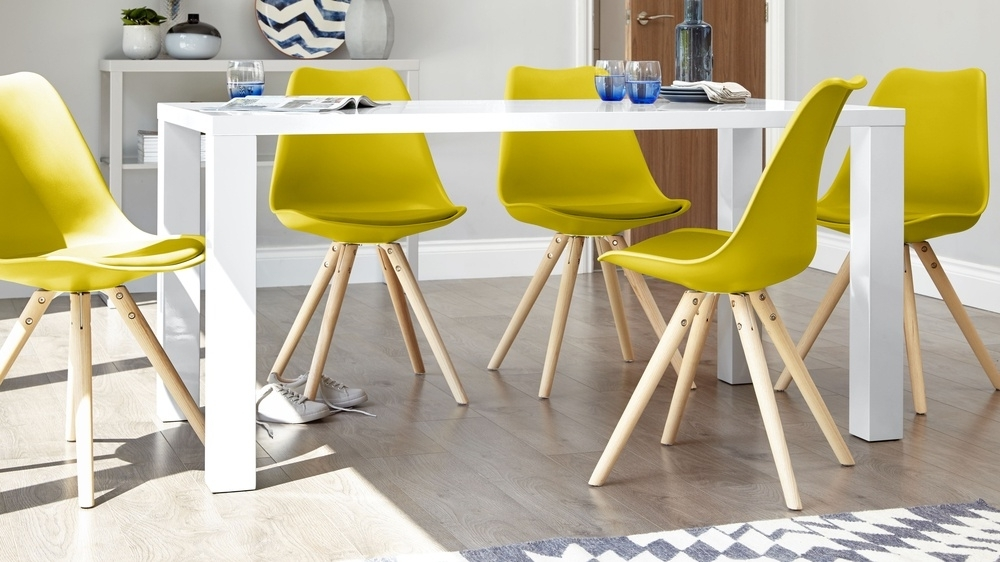 Famous White Gloss Dining Chairs Regarding Modern White Gloss Dining Table (View 6 of 20)