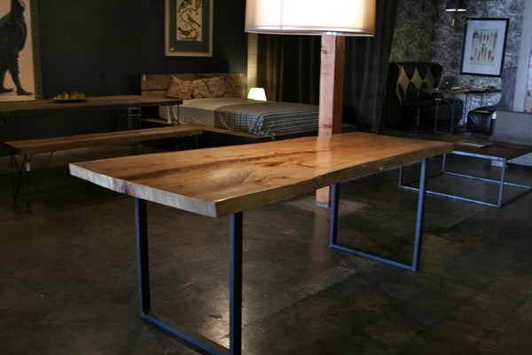 Famous Wonderful Rustik Modern Wood Metal Dining Table Within Wood And Inside Dining Tables With Metal Legs Wood Top (View 9 of 20)