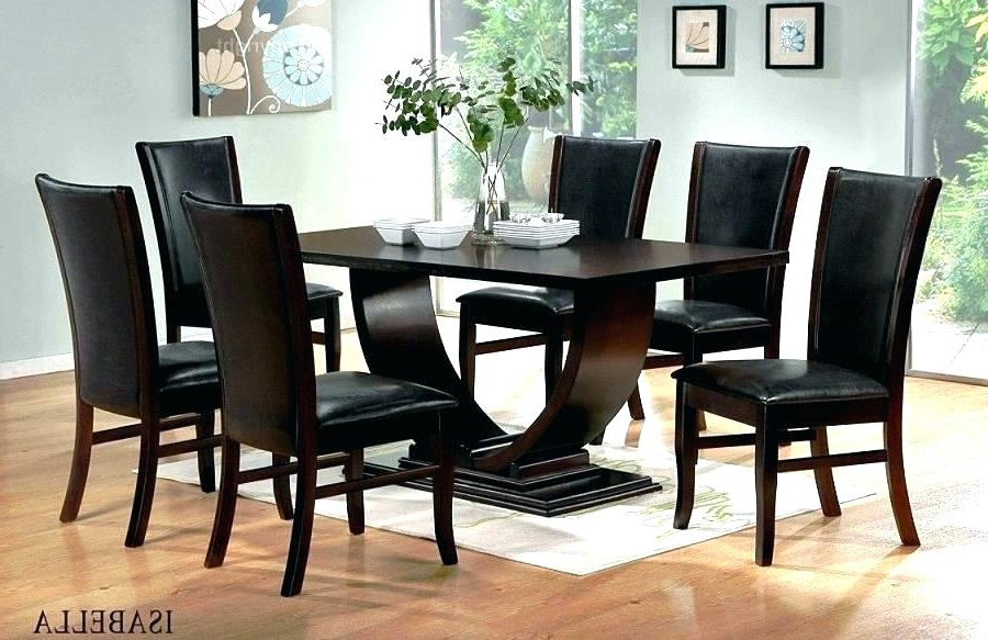 Famous Wooden Dining Set Designs Designs For Dining Table And Chairs Black Inside Black Wood Dining Tables Sets (View 4 of 20)