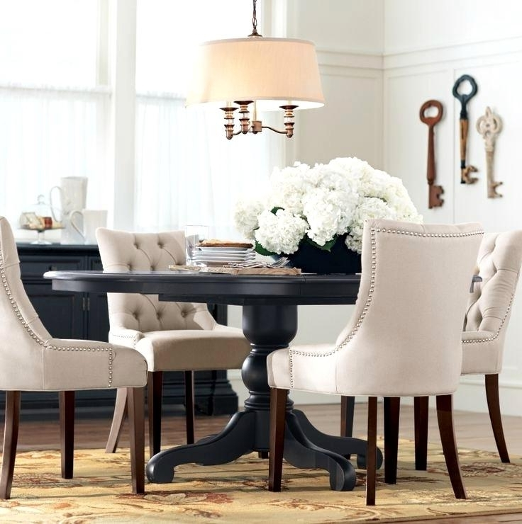 Fantastic Dining Furniture Chairs Design Black Round Dining Table With Famous Dark Round Dining Tables (View 9 of 20)