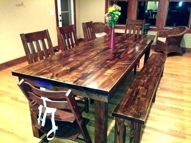 Farm Dining Tables Regarding Fashionable Farm Dining Table – Hepsy (View 9 of 20)