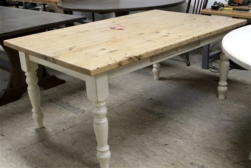 Farmhouse Tables Pertaining To Most Recently Released Dining Tables With White Legs (View 4 of 20)