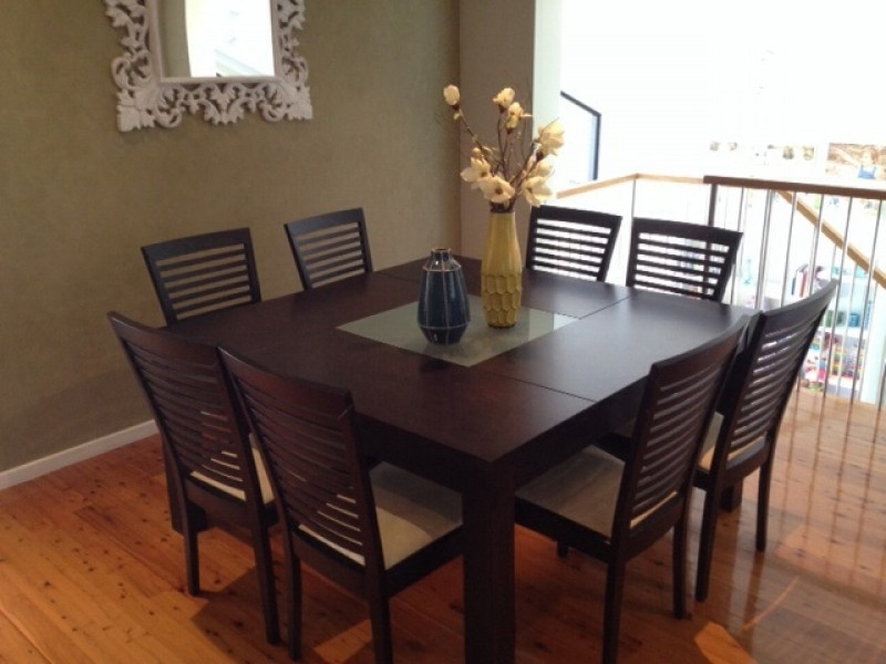 Fashionable 8 Seater Dining Table Sets Intended For Dining Table 8 Seater Dimensions Square Dining Room Table For  (View 11 of 20)