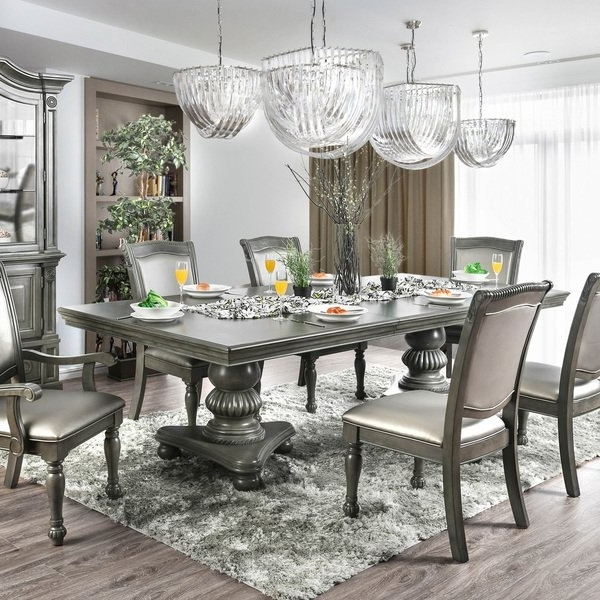 Fashionable 87 Inch Dining Tables In Shop Furniture Of America Shayson Traditional Grey 103 Inch Dining (View 7 of 20)