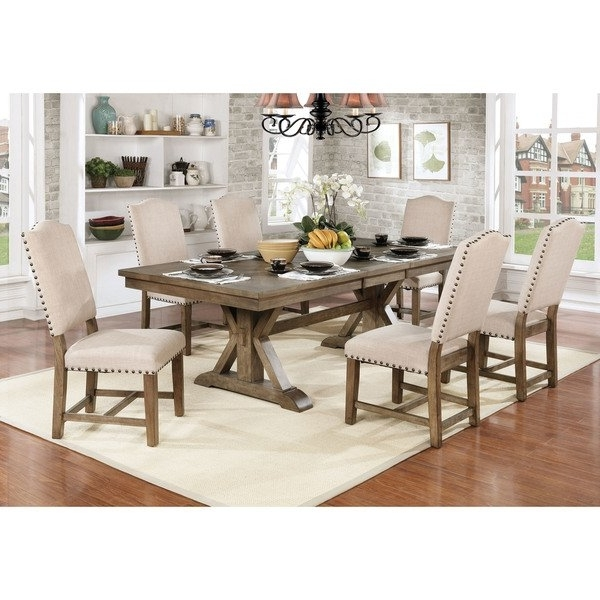 Fashionable 87 Inch Dining Tables Throughout Shop Furniture Of America Cooper Rustic Light Oak Finish Wood (View 8 of 20)
