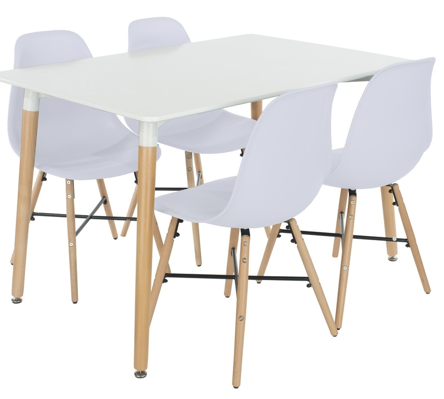 Fashionable Abdabs Furniture – Aspen Rectangular White Dining Table With 4 Within Aspen Dining Tables (View 11 of 20)