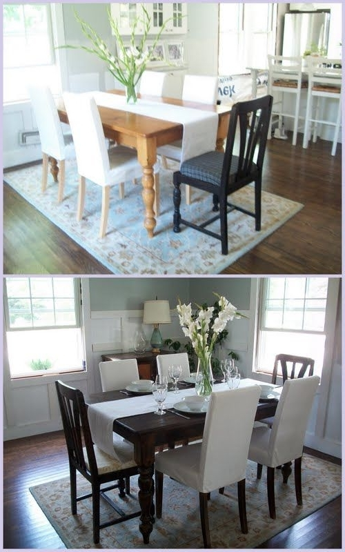 Fashionable Beautiful Kitchen Table Redo @allyson Angelini Angelini Weaver Inside Weaver Ii Dining Tables (View 6 of 20)