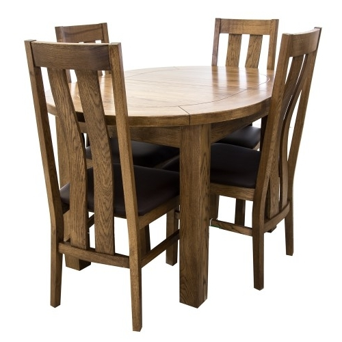 Fashionable Bordeaux Small D End Dining Table & Four Chairs Throughout Bordeaux Dining Tables (View 10 of 20)
