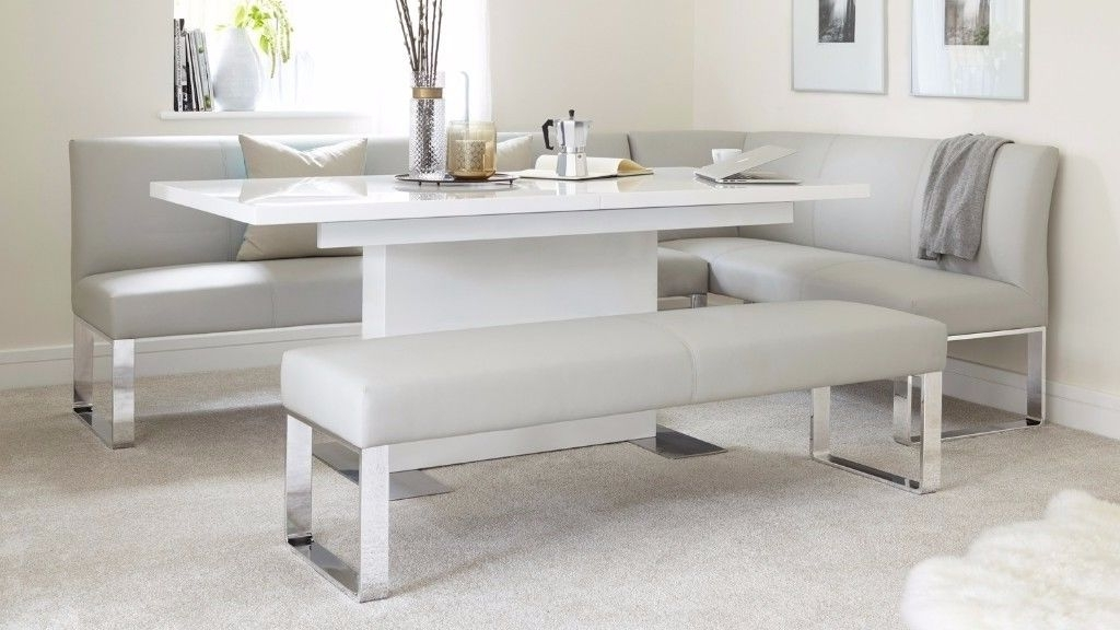 Fashionable Brand New Danetti Sanza High White Gloss Extending Dining Table Over Pertaining To White Gloss Extending Dining Tables (View 4 of 20)