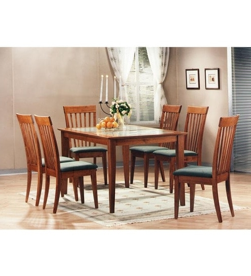 Fashionable Buy Zuari Kingston Six Seater Dining Set With Glass Top Online – Six With Regard To Kingston Dining Tables And Chairs (View 7 of 20)