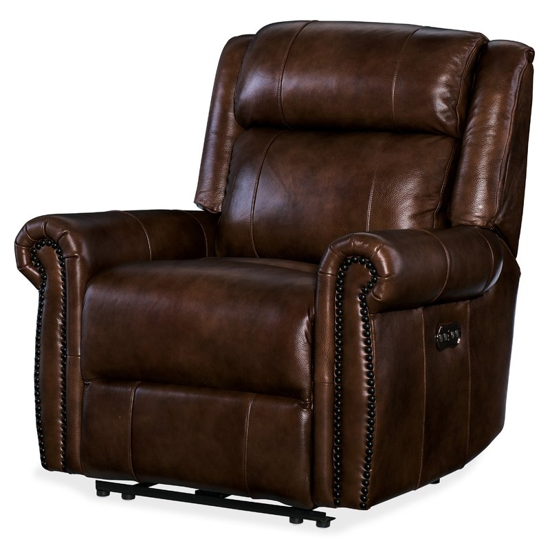 Fashionable Clyde Grey Leather 3 Piece Power Reclining Sectionals With Pwr Hdrst & Usb For Hooker Furniture Esme Leather Power Recliner With Power Headrest (View 8 of 15)