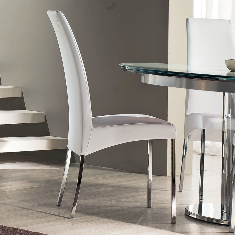 Fashionable Contemporary Dining Room Chairs Throughout Luxury Simplicity Of Modern White Dining Chairs Dining Counter (View 17 of 20)