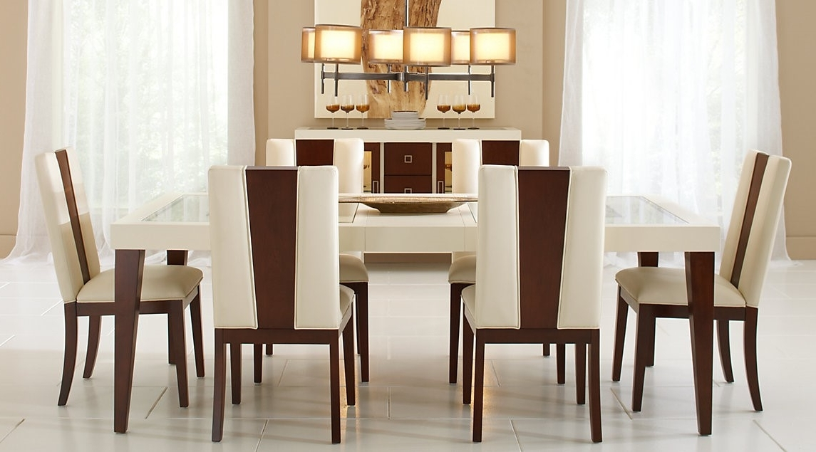 Fashionable Crawford 7 Piece Rectangle Dining Sets Inside Sofia Vergara Savona Ivory, 7 Pc Rectangle Dining Room Set (View 19 of 20)