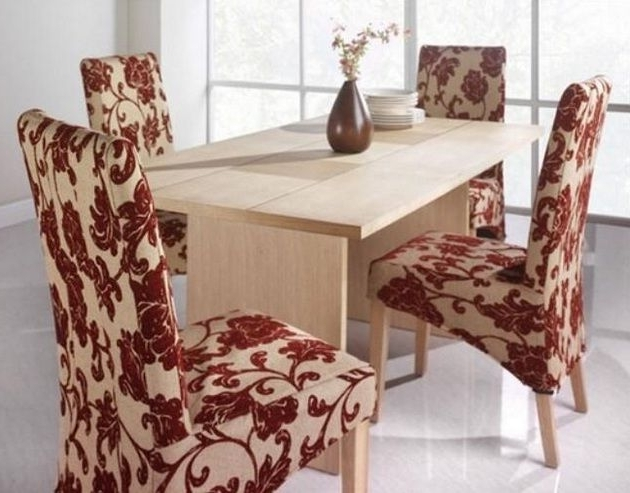 Fashionable Dining Room Chair Fabric Ideas For Minimalist Small Dining Table Inside Fabric Dining Room Chairs (View 7 of 20)