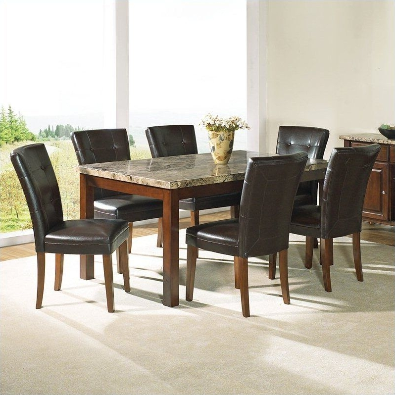 Fashionable Dining Room Dining Room Sets Formal Granite Top Dining Table Dining Intended For Dining Tables And 6 Chairs (View 13 of 20)