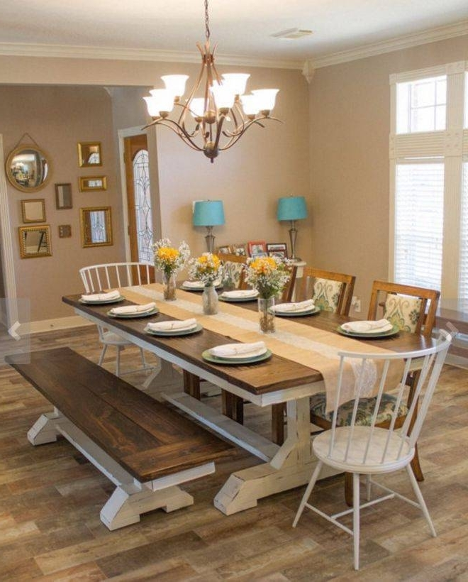 Fashionable Dining Room Tables Inside Farmhouse Dining Table Set Best Of Fabulous Farm Style Dining Room (View 14 of 20)