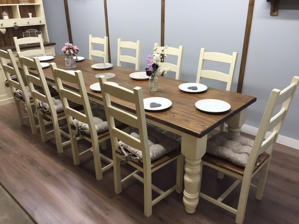 Fashionable Dining Table Set For 10 – Castrophotos Inside Dining Table And 10 Chairs (View 8 of 20)