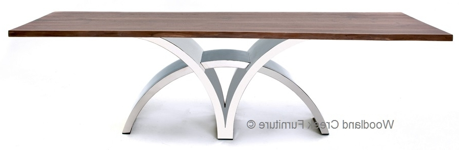 Fashionable Dining Table With Contemporary Stainless Steel Base Throughout Contemporary Base Dining Tables (View 10 of 20)