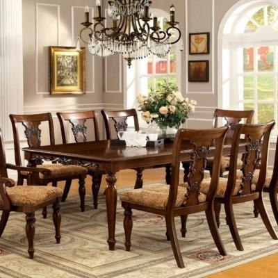 Fashionable Dining Tables With 8 Seater For Advantages Of Buying Round Dining Table Set For 8 – Home Decor Ideas (View 5 of 20)