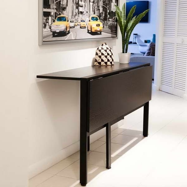 Fashionable Dining Tables With Fold Away Chairs With Regard To Fold Down Table For Tiny Kitchen (View 5 of 20)