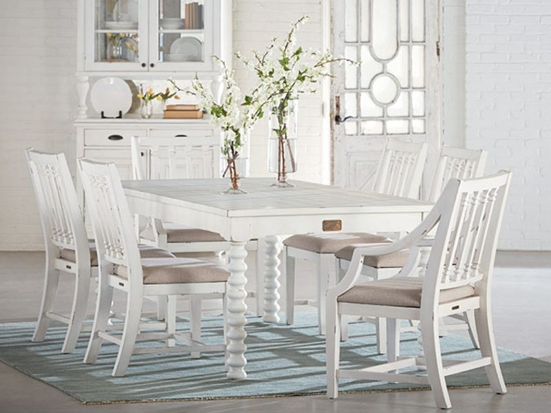 Fashionable Dining Within Magnolia Home Breakfast Round Black Dining Tables (View 5 of 20)