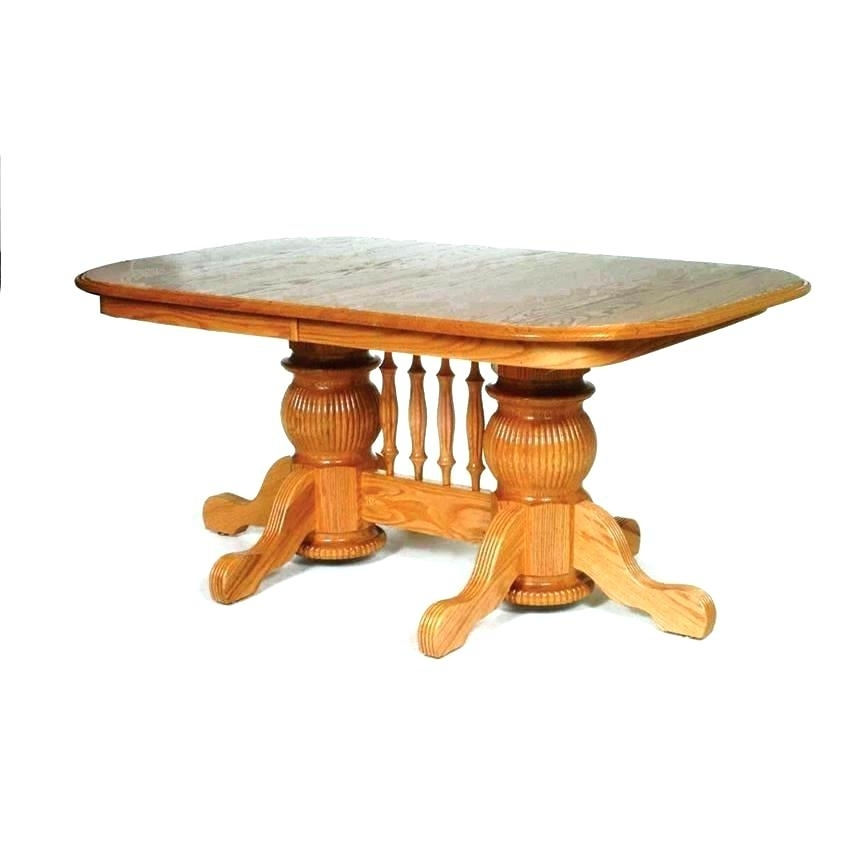 Fashionable Double Pedestal Oak Dining Table Room Magnolia Home Solid Inside Magnolia Home Double Pedestal Dining Tables (View 5 of 20)