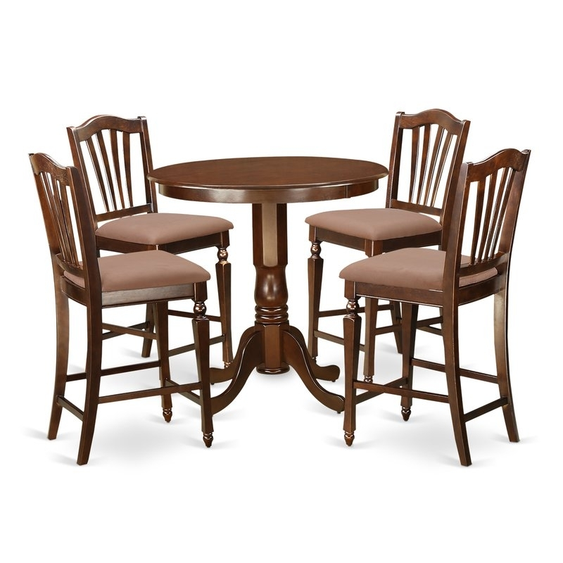 Fashionable East West Jackson 5 Piece Counter Height Pub Table Set (View 5 of 20)