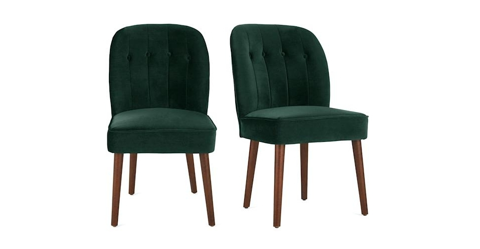 Fashionable Ebay Dining Chairs Throughout Green Velvet Dining Chairs – Kechsblog (View 11 of 20)