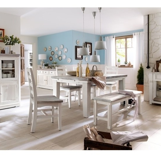 Fashionable Extendable Dining Tables And 4 Chairs Within Opal Extendable Dining Table 4 Chairs And Bench In White (View 8 of 20)