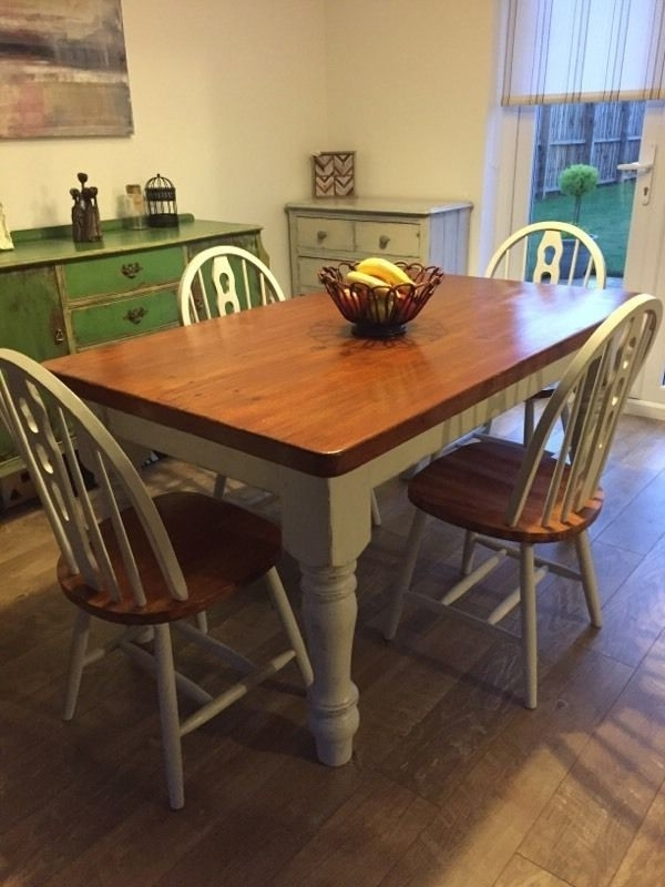 Fashionable Glasgow Dining Sets Pertaining To Refurbished Dining Tables – Soulpower (View 4 of 20)