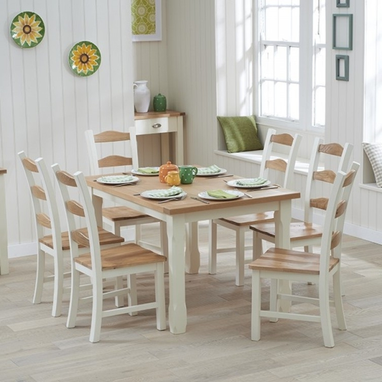 Fashionable Great Offers On Sandringham Oak & Painted Range At Oak Furniture House Intended For Oak Dining Tables With 6 Chairs (View 4 of 20)