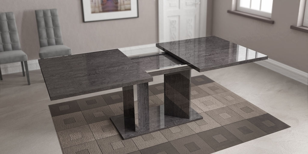 Fashionable Grey Dining Tables Throughout Grey Finished Dining Table Imported And Made In Italy Toledo Ohio Ahsar (View 7 of 20)