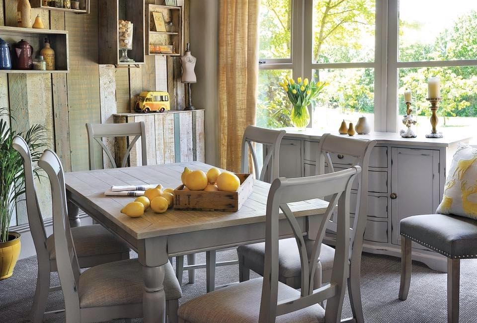 Fashionable Grey Shabby Chic Extendable Dining Table – Bovary With Shabby Chic Extendable Dining Tables (View 7 of 20)