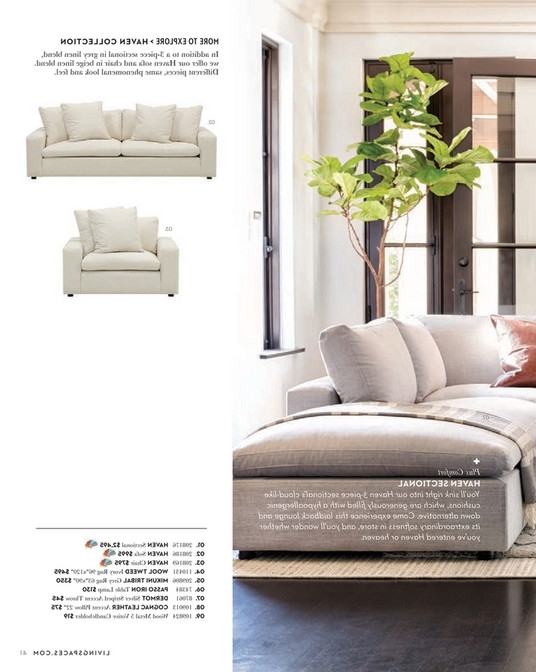 Fashionable Haven 3 Piece Sectionals Pertaining To Living Spaces – Spring 2018 – Haven 3 Piece Sectional (View 6 of 15)