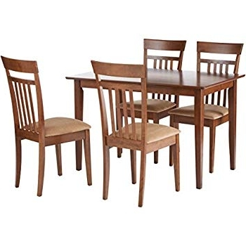 Fashionable Helms 5 Piece Round Dining Sets With Side Chairs Intended For Amazon: Taraval 5 Piece Dining Set With Bench Cappuccino And (View 7 of 20)