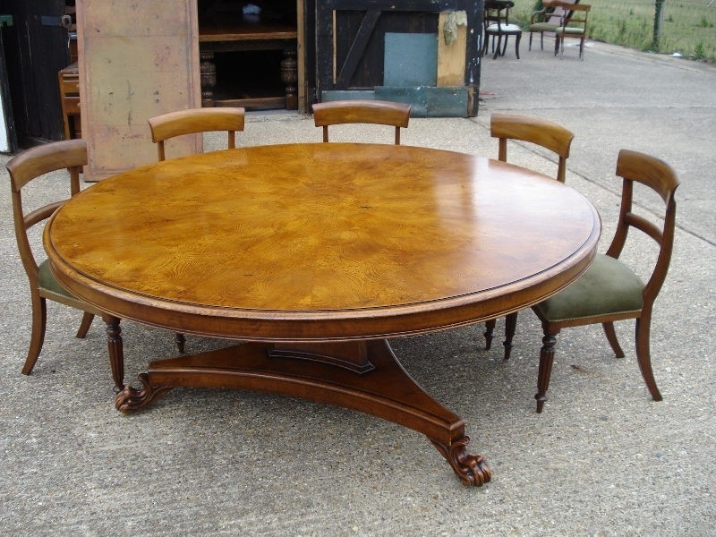 Fashionable Huge Round Dining Tables For Round Dining Room Table Seats 12 Luxury Antique Furniture Warehouse (View 2 of 20)