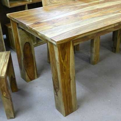 Fashionable Kota Sheesham Dining Table 90 X 90 – Jugs Furniture Within Sheesham Dining Tables And Chairs (View 13 of 20)