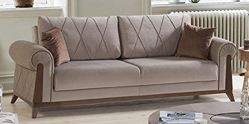 Fashionable London Optical Reversible Sofa Chaise Sectionals Inside Amazon: Perla Furniture London Sofa 8: Kitchen & Dining (View 4 of 15)