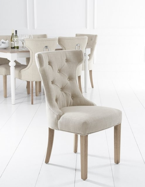 Fashionable Lulworth Winged Button Back Dining Chair – Fabric & Leather Dining Regarding Button Back Dining Chairs (View 11 of 20)