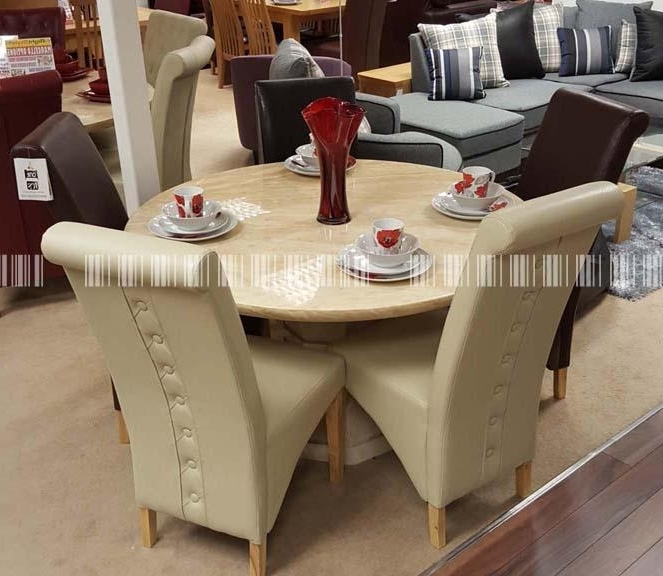 Fashionable Marcello 130Cm 6 Rocco Button – Dublin, Ireland Furniture Store Inside Rocco Extension Dining Tables (View 5 of 20)