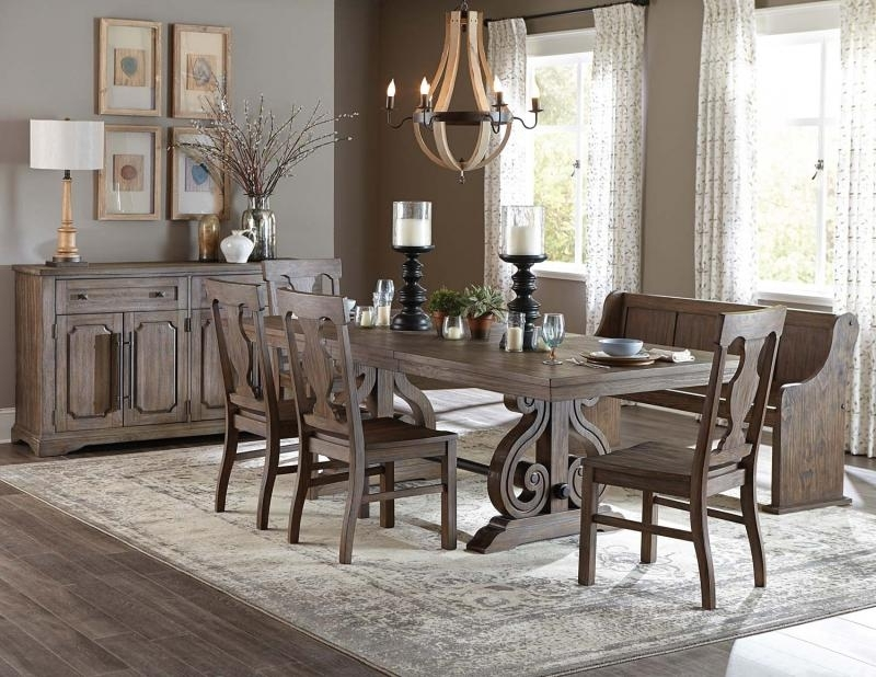 Fashionable Market 6 Piece Dining Sets With Host And Side Chairs With Regard To Barron's Furniture And Appliance – Regular Height Dining And Servers (View 6 of 20)